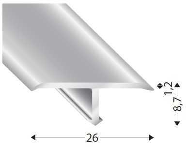 T13526 Nowart Aluminiowa listwa dylatacyjna T13526 Nowart