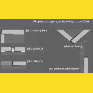 11915S Nowart Listwa aluminiowa do dylatacji 11915S Nowart