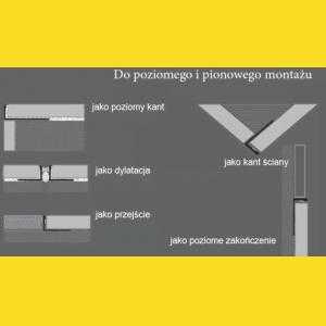 1192,5S Nowart Listwa dylatacyjna do płytek 1192,5S Nowart