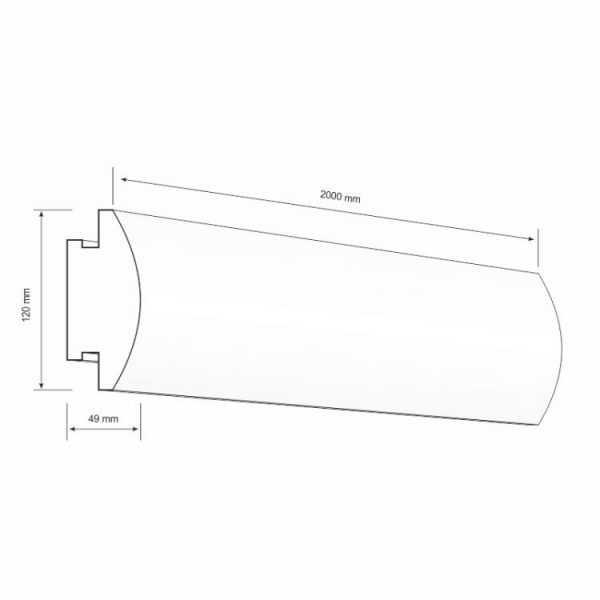 lo27 Decor System Listwa oświetleniowa ścienna LED LO-27 Decor System