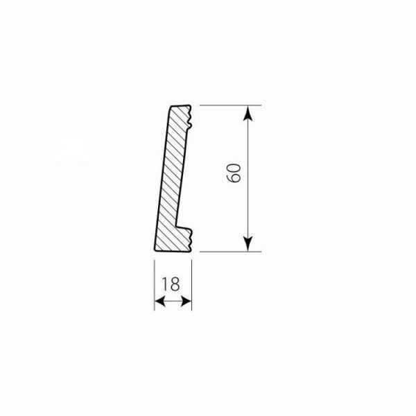 PF 0406 Decor System Mech Biała listwa przypodłogowa DSP01 Decor System Mech