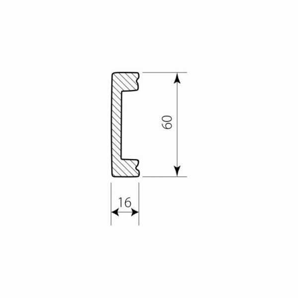 PW 5106 Decor System Mech Listwa ścienna DSS04 Decor System Mech