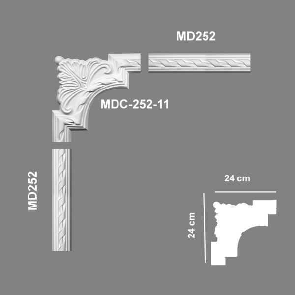MDC25211 Mardom Decor Narożnik Ozdobny MDC252-11 Mardom Decor