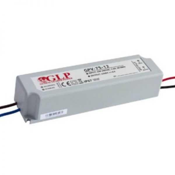 ZGP000075 Decor System Zasilacz impulsowy wodoodporny IP 67 GPV 12V/6A 75W Decor System